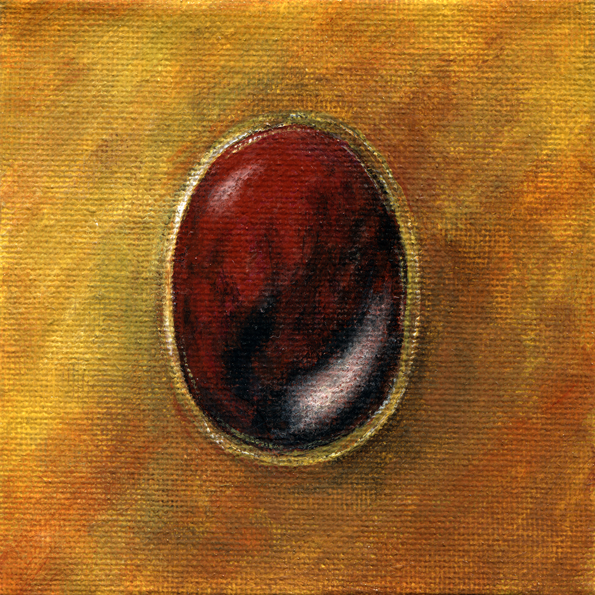 Pyrope gem jewellery painting