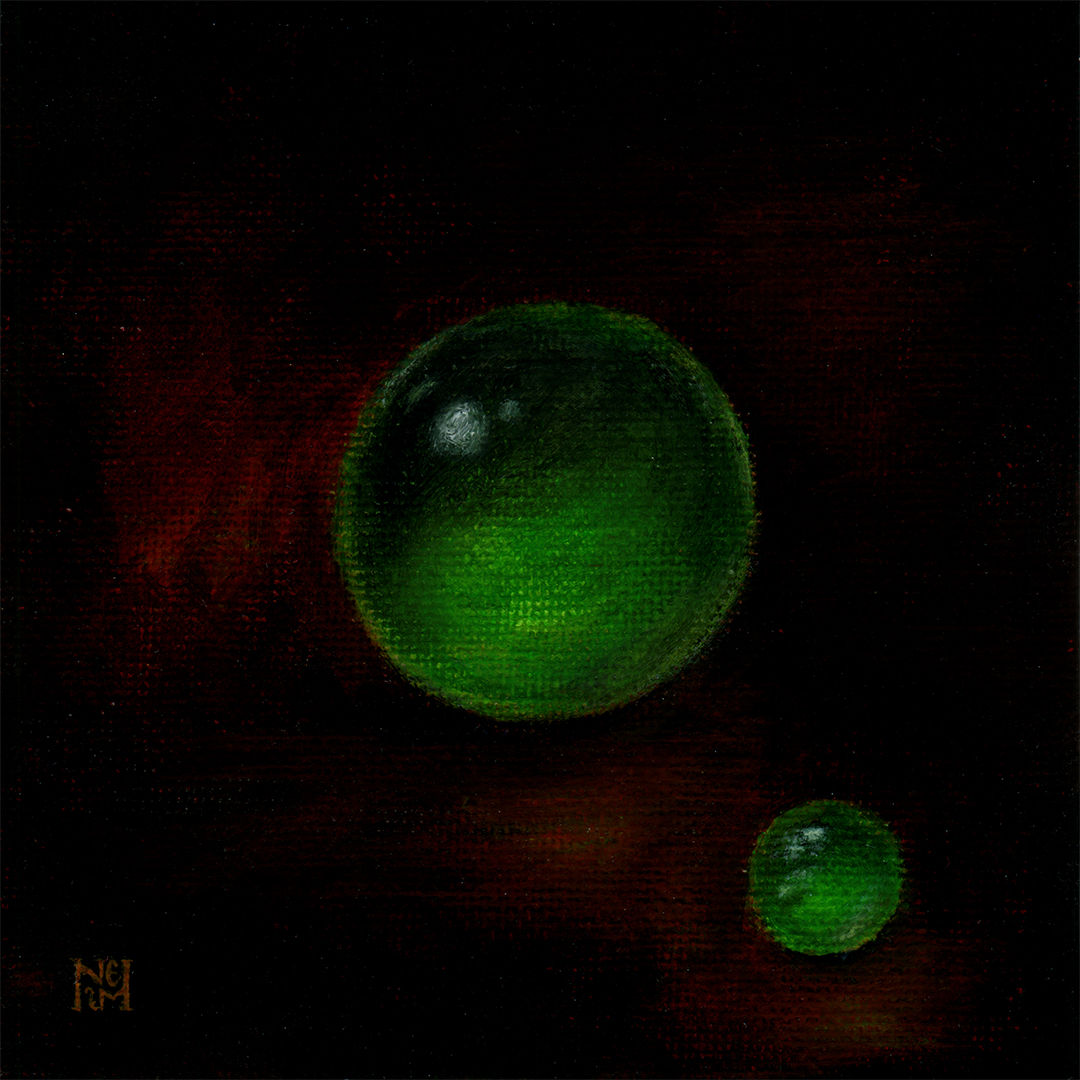 Jadeite beads academic painting