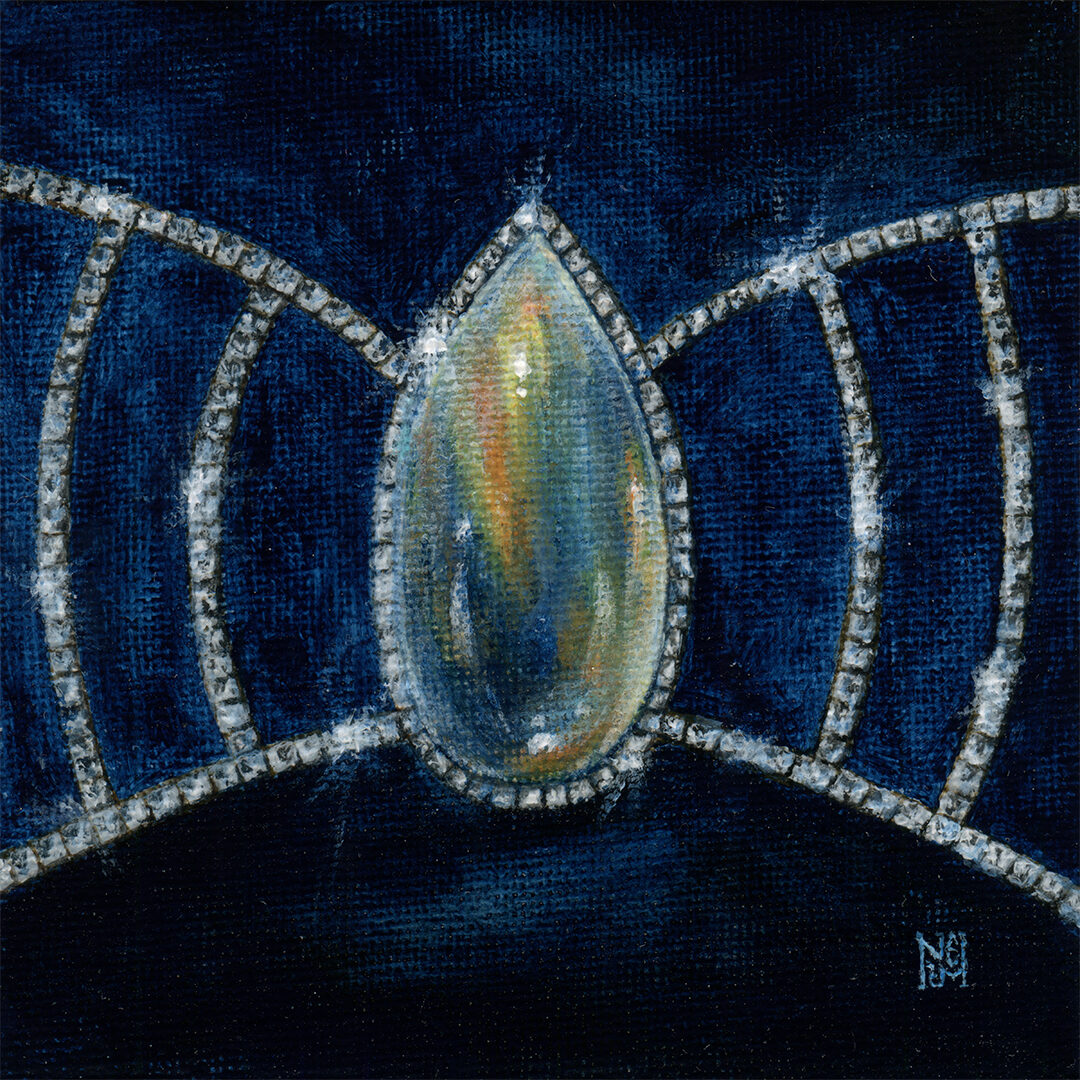 Jewellery diamonds painting