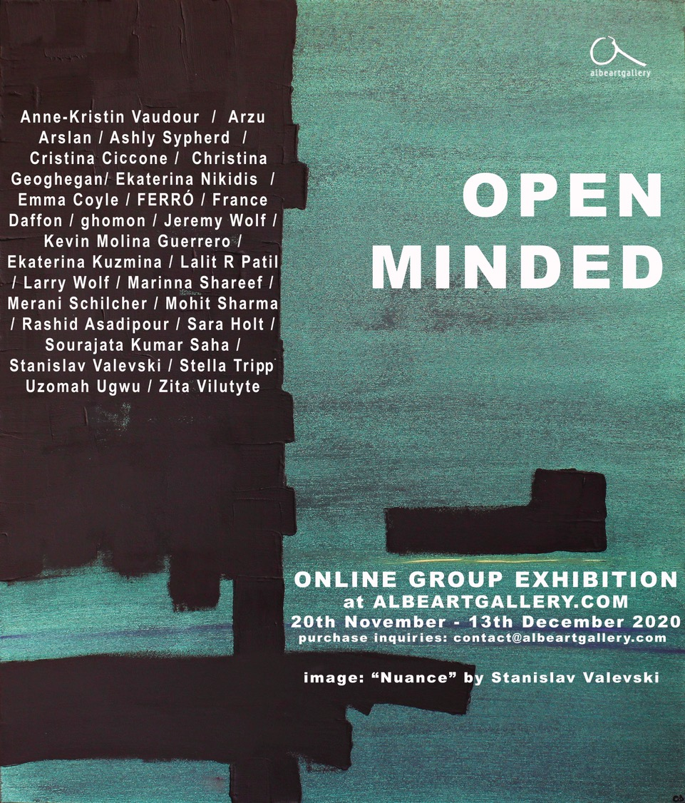 Opening Announcement_Online Group Exhibition_OPEN MINDED