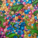 Contemporary big acrylic painting by Ekaterina Nikidis