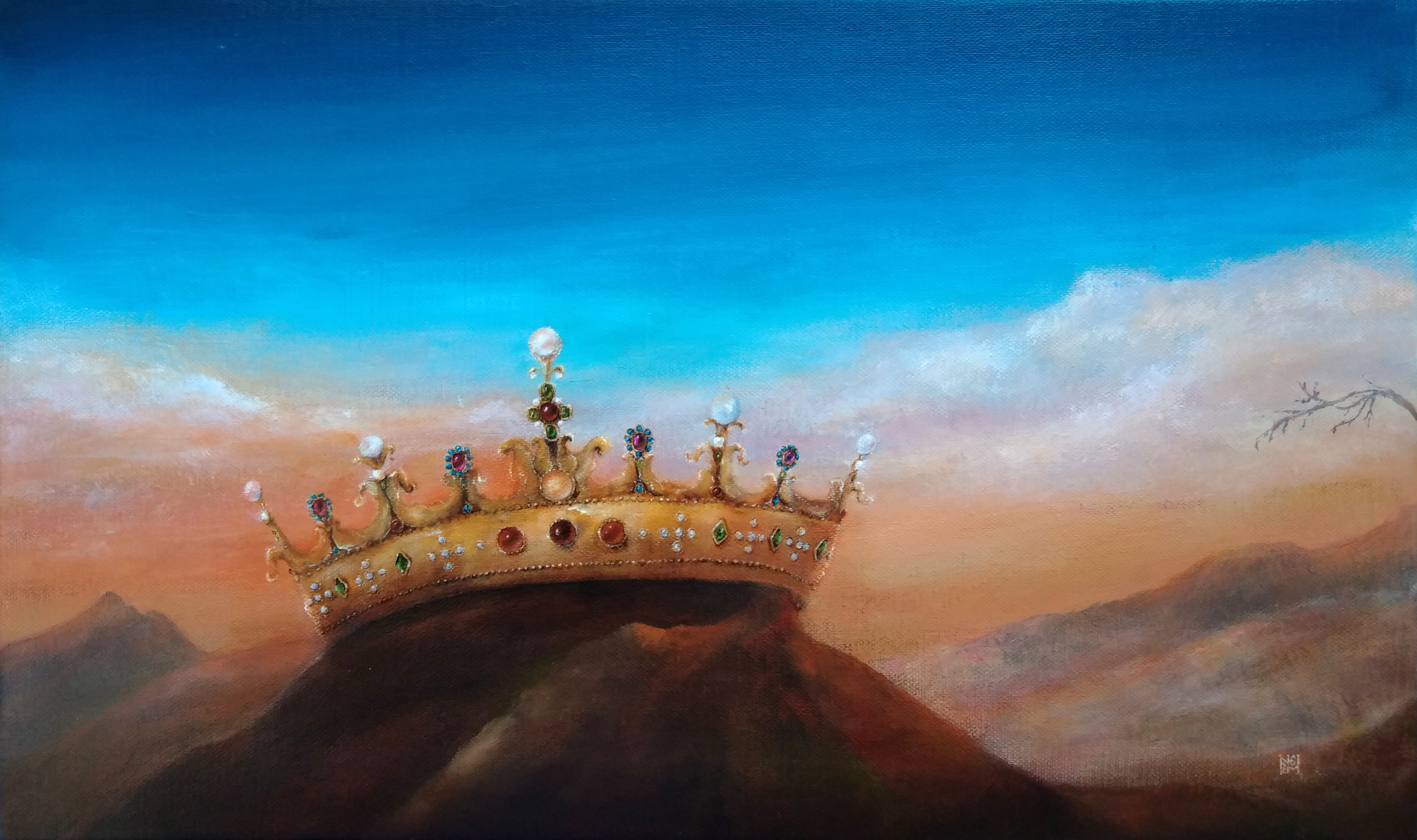 The holy crown Nikidis painting